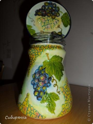 """Карандашница """"Котейки"""".Моя первая работа. Использовала: стакан, открытка,контуры по стеклу, акрил.краски, лак. фото 10"""