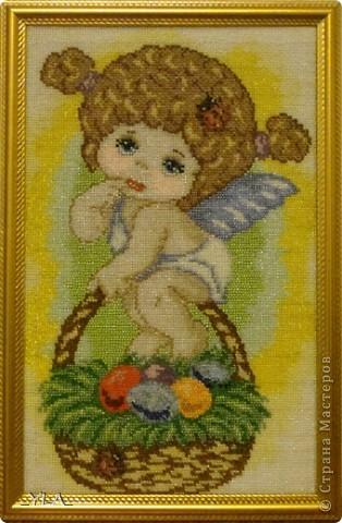 Ангелочек, вышитый бисером фото 1