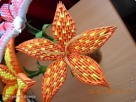 Как сделать оригами из модулей белого цвета