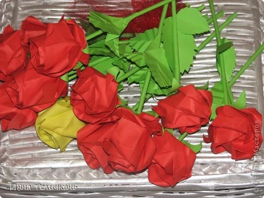 Училась делать розы.... фото 6