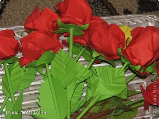 Училась делать розы.... фото 7