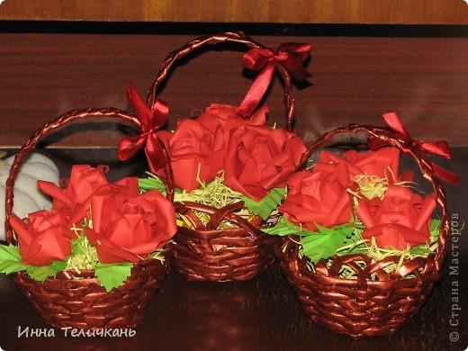 Корзиночки с розами фото 2