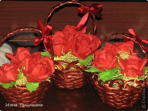 Корзиночки с розами фото 1