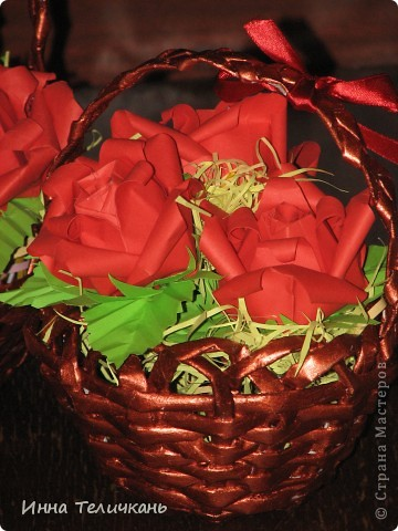 Корзиночки с розами фото 3
