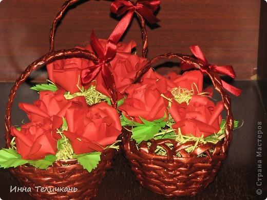 Корзиночки с розами фото 4