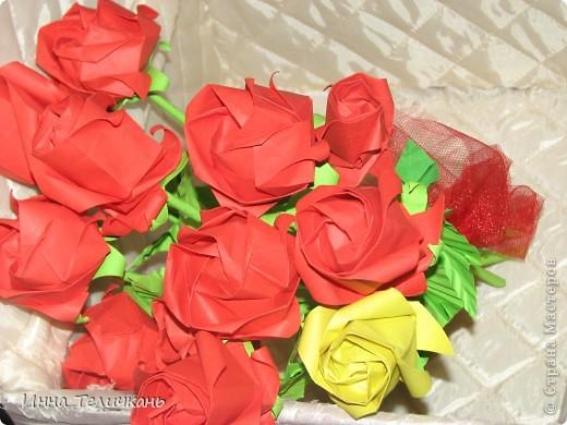 Училась делать розы.... фото 4
