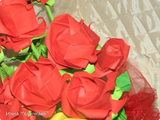 Училась делать розы.... фото 5