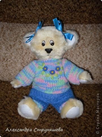 Медвежонок Варька, костюмчик связала подруга. фото 1