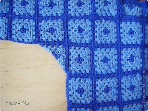 """Джемпер связан из шерстяной и полушерстяной пряжи очень простым узором """"бабушкин квадрат"""".  Такой джемпер может связать даже начинающая рукодельница. фото 6"""
