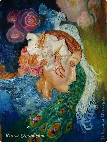 Панно делала по картине замечательной художницы Жозефины Уолл http://www.josephinewall.com Моя девушка получилась не такая красивая как оригинал, но как говорится на ошибках учатся. фото 2