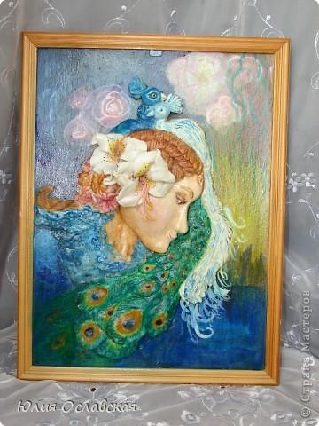 Панно делала по картине замечательной художницы Жозефины Уолл http://www.josephinewall.com Моя девушка получилась не такая красивая как оригинал, но как говорится на ошибках учатся. фото 1
