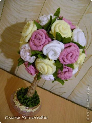 """Доброго времени суток всем жителям СМ! Спешу показать мое очередное творение, которое было сделано под впечатлением чудесных """"розовых"""" деревьев Олисандры. Спасибо Вам !!!  фото 4"""