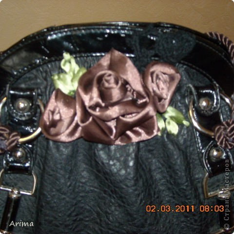 Сумка с розами из лент