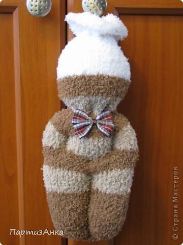 На этот раз - куклы из мохровых носков. фото 1