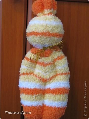 На этот раз - куклы из мохровых носков. фото 3