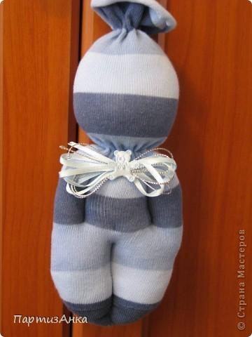 На этот раз - куклы из мохровых носков. фото 4