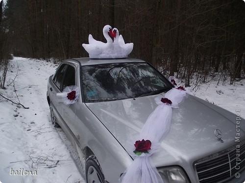 Мой  дебют  в Стране  Мастеров. Украшение для  свадебных  авто. фото 1