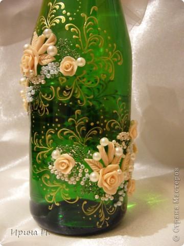 Получились такие праздничные бутылочки .Спасибо всем Мастерицам особенно Ксюше 25 за интересные идеи. фото 2