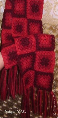 """Джемпер связан из шерстяной и полушерстяной пряжи очень простым узором """"бабушкин квадрат"""".  Такой джемпер может связать даже начинающая рукодельница. фото 14"""
