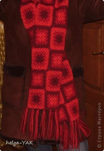 """Джемпер связан из шерстяной и полушерстяной пряжи очень простым узором """"бабушкин квадрат"""".  Такой джемпер может связать даже начинающая рукодельница. фото 15"""