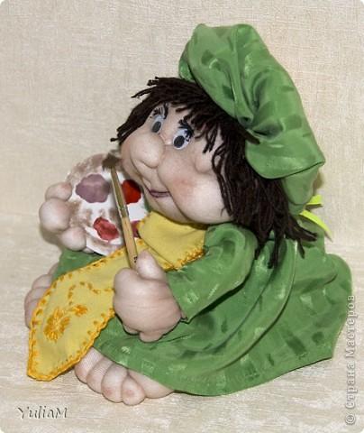 Смотрела-смотрела на кукол и... вот! свершилось! Прошу любить и жаловать - первый попик. По профессии - художник, весь такой свеженький, весенний :) фото 3
