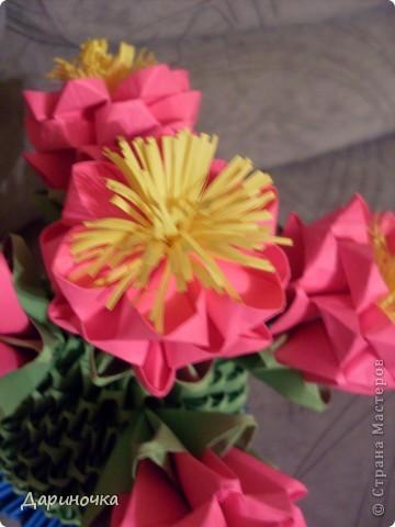 Цветущий кактус с иголочками (модульное оригами) фото 2