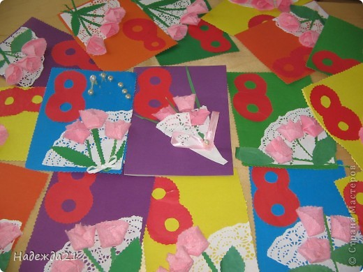 Открытка для мамы в детском саду своими