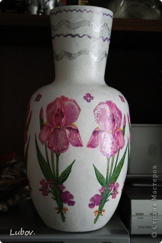 """Моя первая вазочка """" Ирисы"""". фото 2"""
