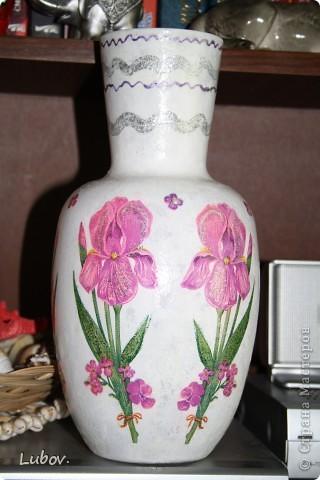 """Моя первая вазочка """" Ирисы"""". фото 1"""