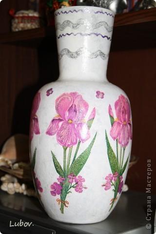 """Моя первая вазочка """" Ирисы"""". фото 3"""