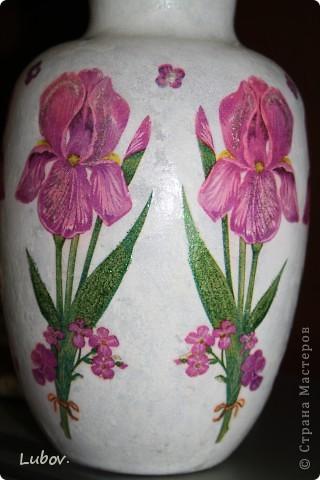 """Моя первая вазочка """" Ирисы"""". фото 4"""