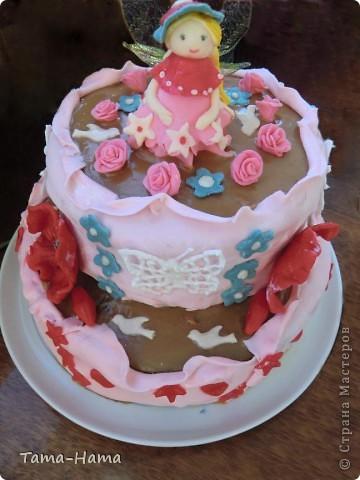 Украшение тортика из мастики фото 1