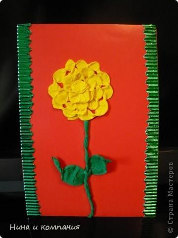 """Приближается 8 марта. Сын готовит подарки, а я немножко помогаю. Эти циннии для воспитателей в детском саду. Идея взята из книги Т. Просняковой """"Цветы"""". Очень замечательная книга! фото 3"""