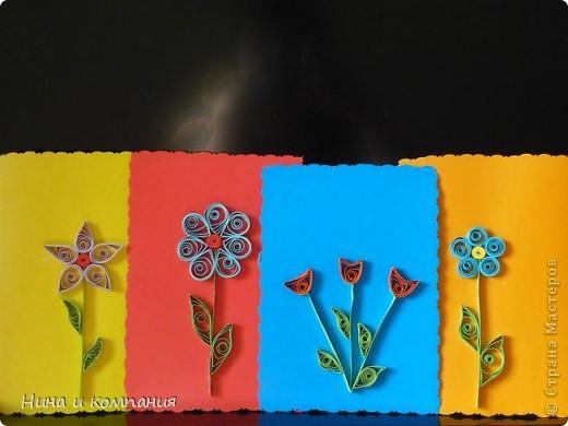 """Приближается 8 марта. Сын готовит подарки, а я немножко помогаю. Эти циннии для воспитателей в детском саду. Идея взята из книги Т. Просняковой """"Цветы"""". Очень замечательная книга! фото 10"""