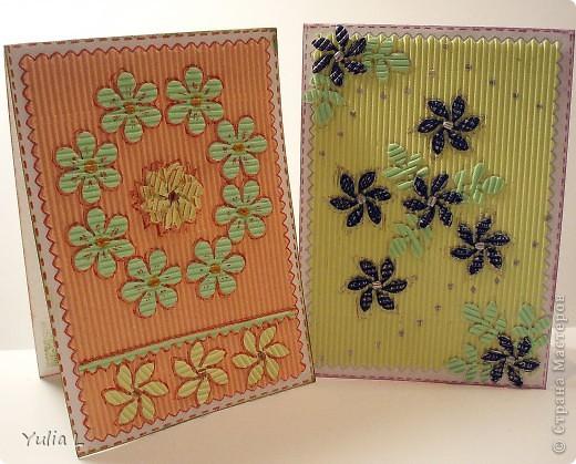 Незатейливые, но очень красочные открытки в подарок педагогам к наступающему весеннему празднику. фото 4
