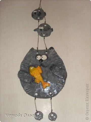 Котик серенький с золотой рыбкой для свекрови! фото 1