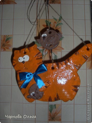 Котик серенький с золотой рыбкой для свекрови! фото 4