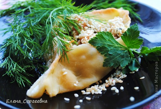 Расстегайчики с вкусняшкой и сыром Маскарпоне фото 1