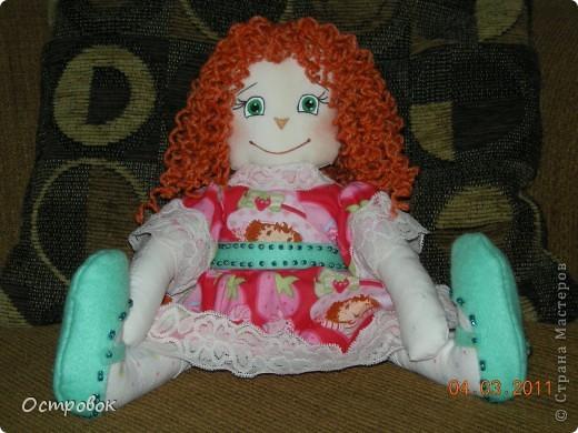 Закончила я наконец-то свою девочку!!!!! Как только личико нарисовалось - сразу поняла - она ЛЮСЯ!!!!! У меня почему-то все другие куклехи до сих пор безымянные, а эта как то сразу!!!!! фото 1