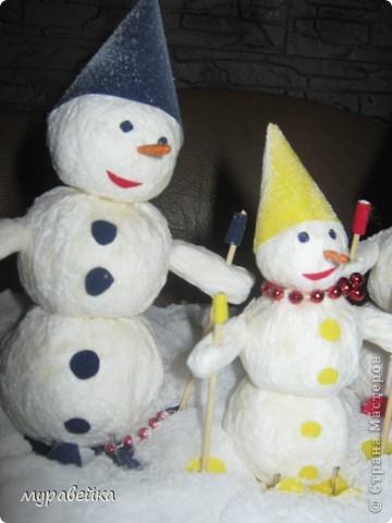 Дружное семейство снеговиков) фото 2