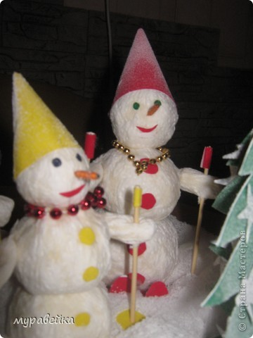Дружное семейство снеговиков) фото 3