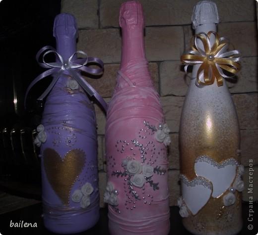Мои  бутылочки - итог  вдохновения,  появившегося  после  просмотра Ваших  работ... фото 1