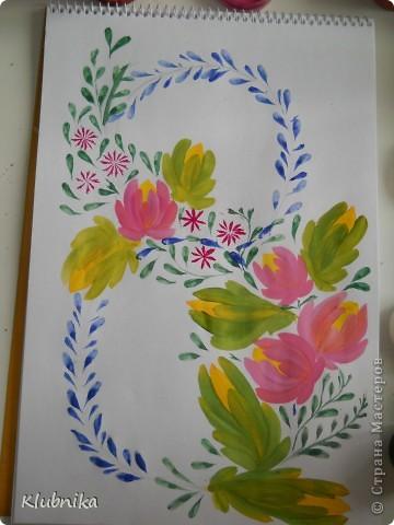 МК по петриковской росписи 2 фото 13