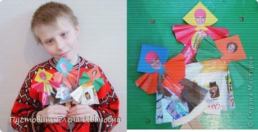 """Сегодняшнее занятие в кружке посвятили масленичной неделе.Как известно,четверг на масленицу-разгуляй.Вот мы и """"разгулялись"""" :))) Огромная благодарность Жанночке за идею : http://stranamasterov.ru/node/157100  !!! Решили воспользоваться прекрасной идеей-сделать куклу-масленицу из бумаги. фото 8"""