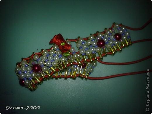 Вот как выглядит мой браслет. Идею взяла из журнала. фото 6