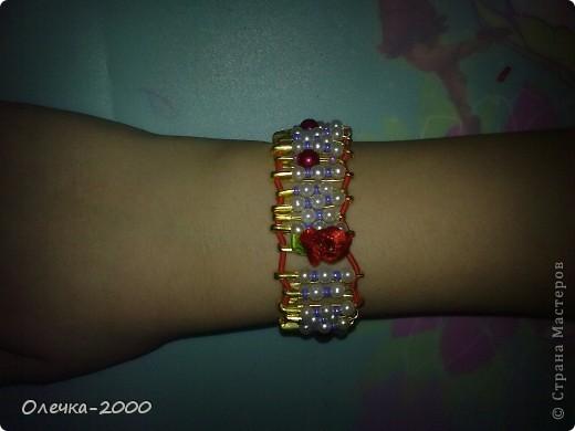 Вот как выглядит мой браслет. Идею взяла из журнала. фото 7