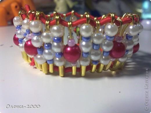 Вот как выглядит мой браслет. Идею взяла из журнала. фото 1
