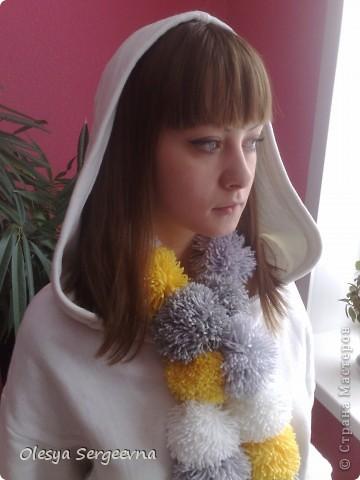 Пумпончатый шарфик )) фото 2
