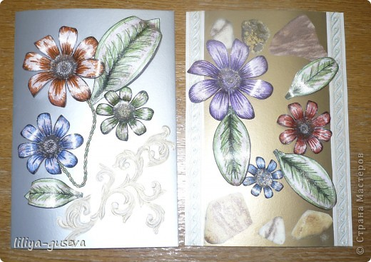 Вот такие открытки я подарила на 8 марта своим одноклассницам Ирине и Анюте. фото 1