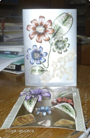 Вот такие открытки я подарила на 8 марта своим одноклассницам Ирине и Анюте. фото 2